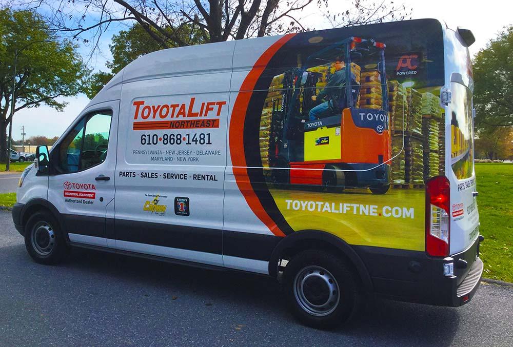 Forklift service repair van
