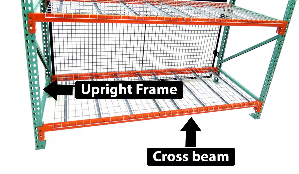 Pallet racking upright frame