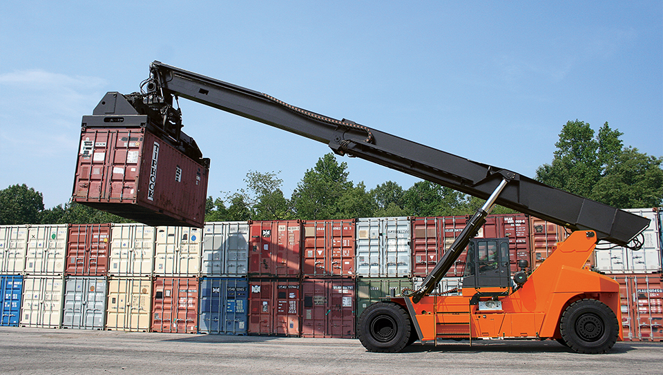 Shipping Container Stacker