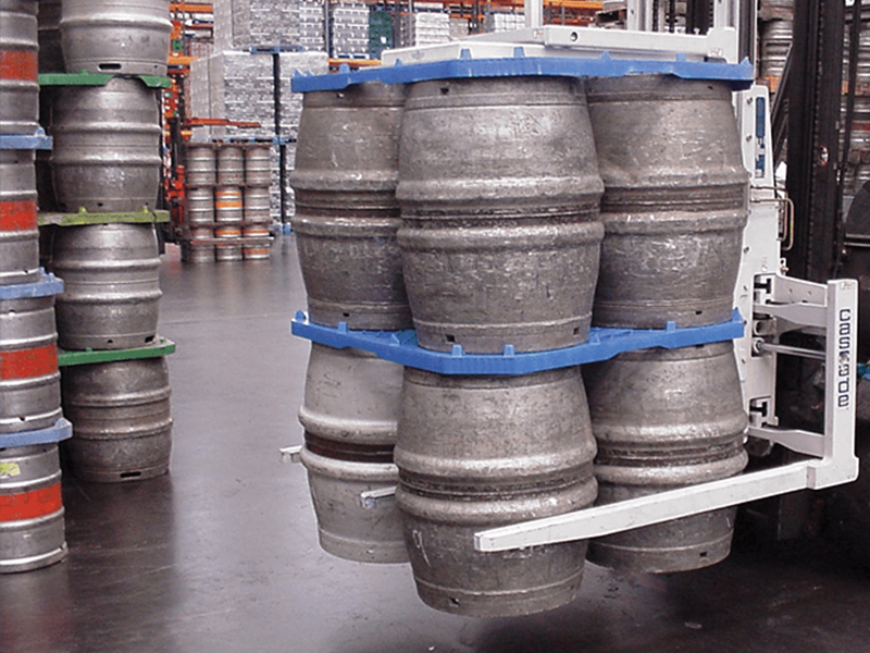 Beer Keg Handler Forklift Attachment