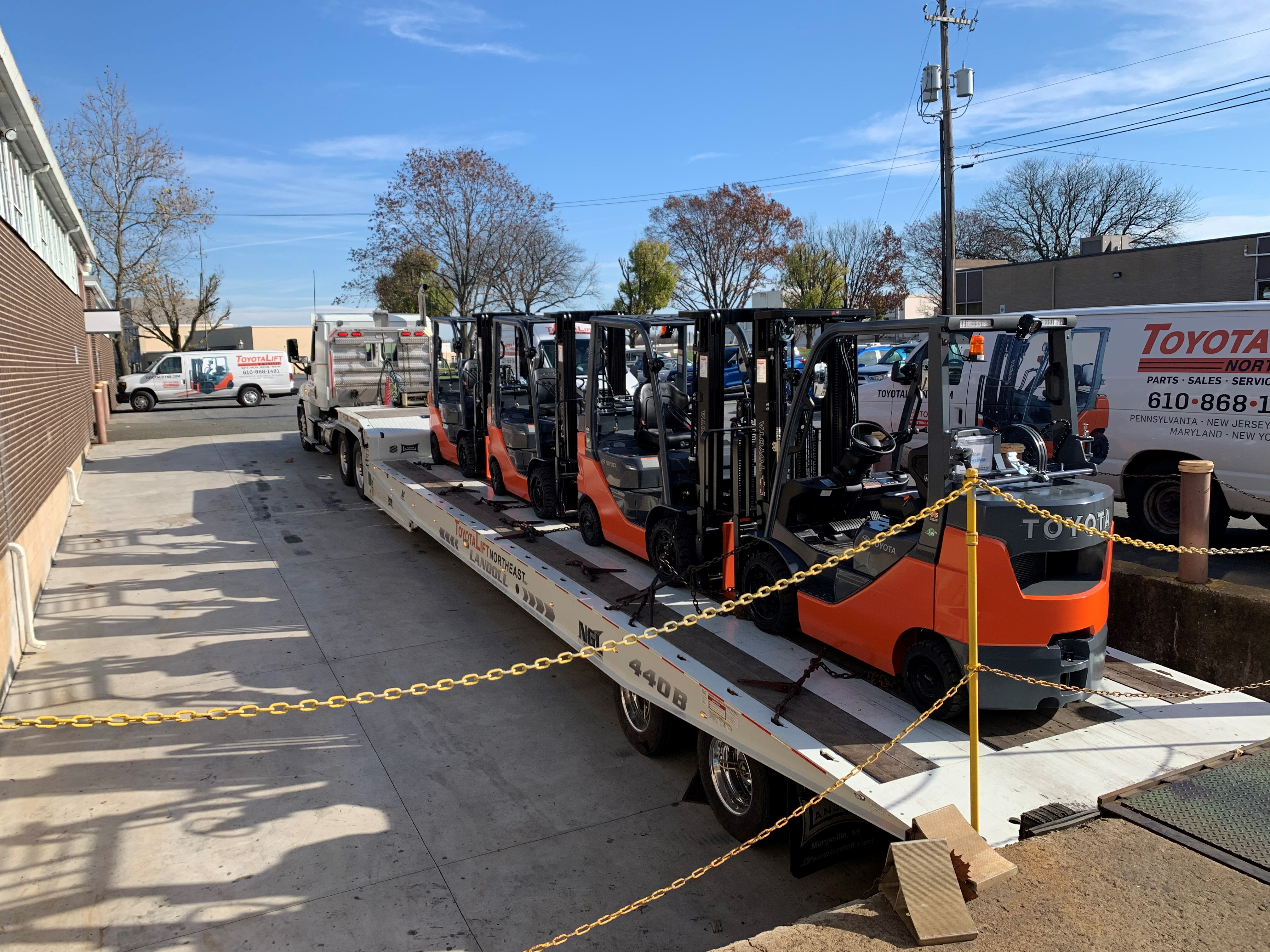 Forklift Rental Shipment